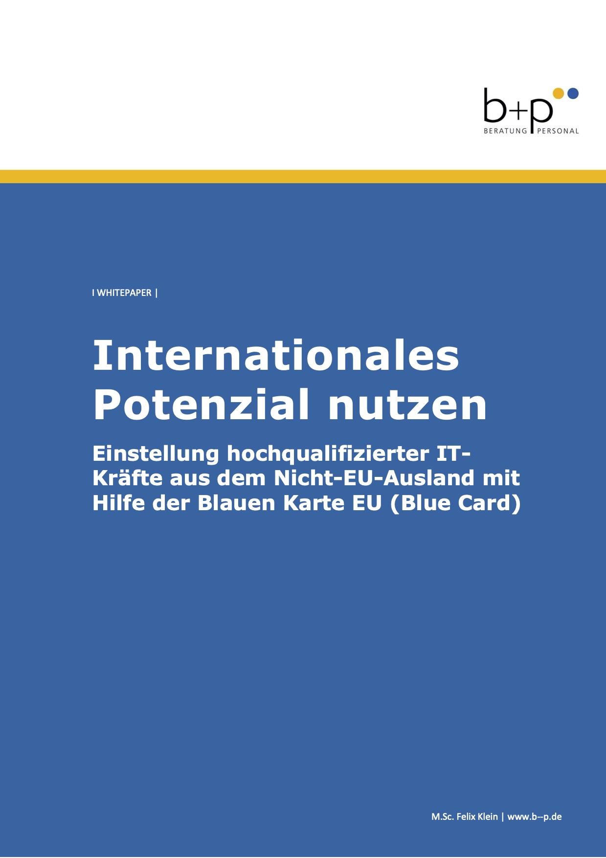 Internationales Potenzial nutzen
